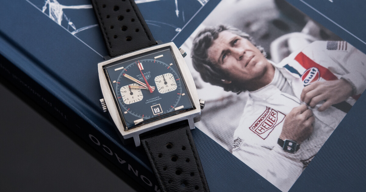 Steve McQueen's Heuer Monaco Gifted To Personal Mechanic, Haig Alltounian Sold For $2,208,000