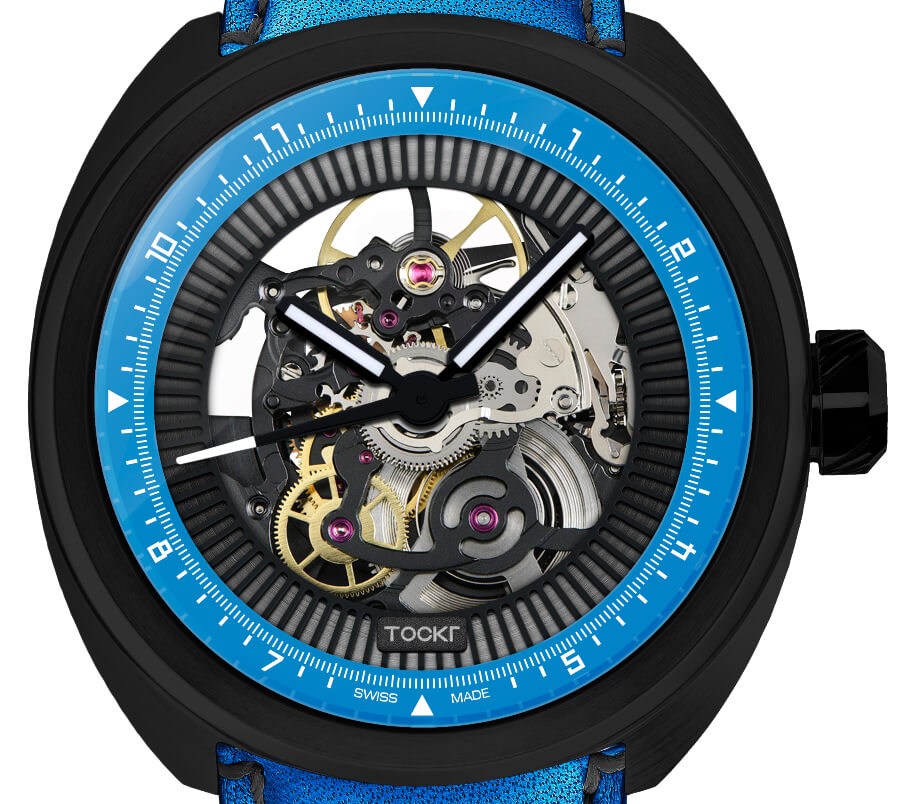 "Tockr C-47 Skeleton Automatic ""Hugo"" Blue Dial"