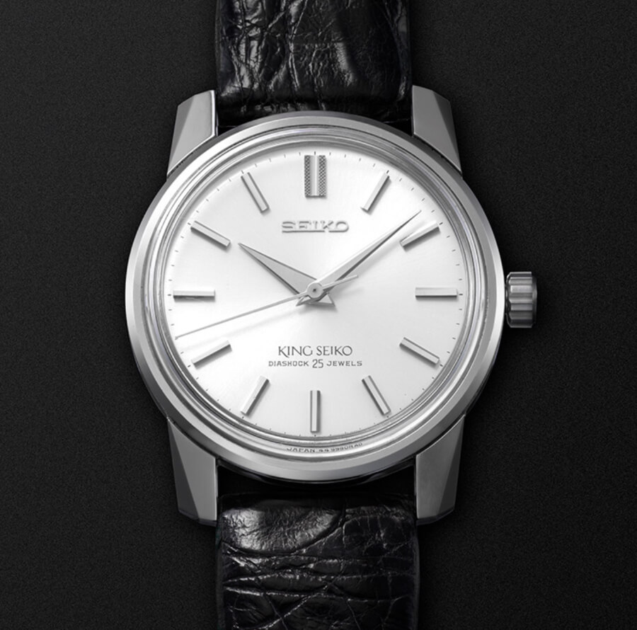 The 1965 King Seiko KSK presented a distinctive, angular profile