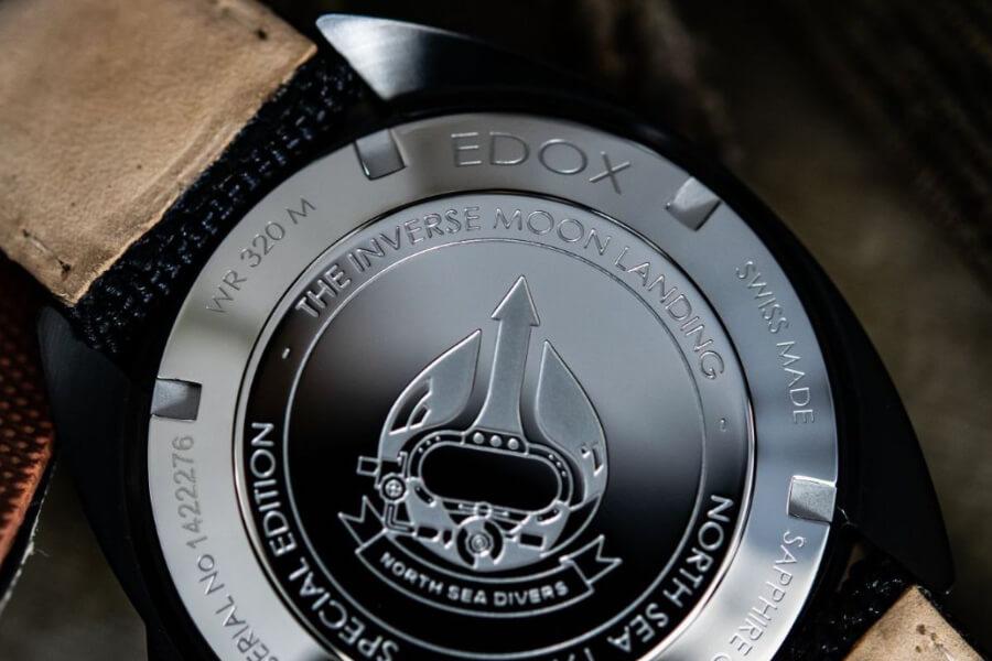 Edox North Sea 1978 The Inverse Moon Landing Case Back