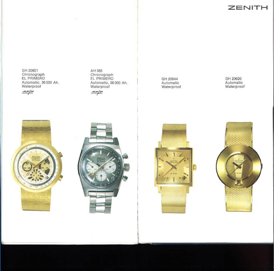 Vintage Zenith Watches Catalog