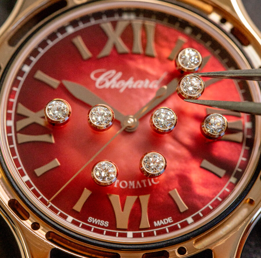 Chopard Happy Sport in ethical 18-carat rose gold Ref. 275378-5005 Dial