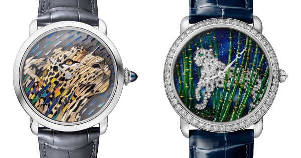 Cartier Ronde Louis Cartier Straw And Gold Marquetry and Cartier Ronde Louis Cartier Enamel Filigree Watch (Price, Pictures and Specifications)