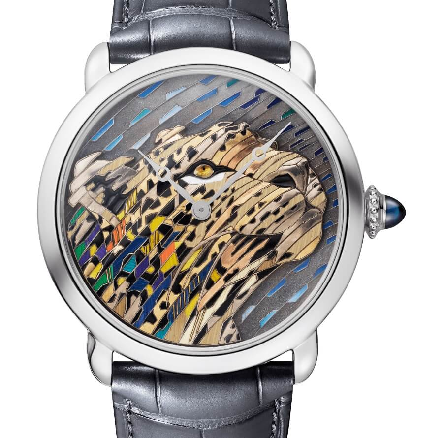 Cartier Ronde Louis Cartier Straw And Gold Marquetry Watch Review