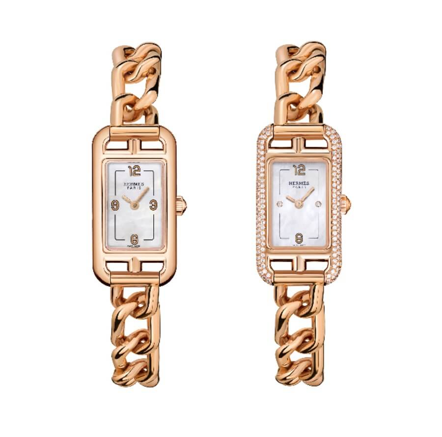 Hermes Nantucket Chaîne d'Ancre Gold Watch