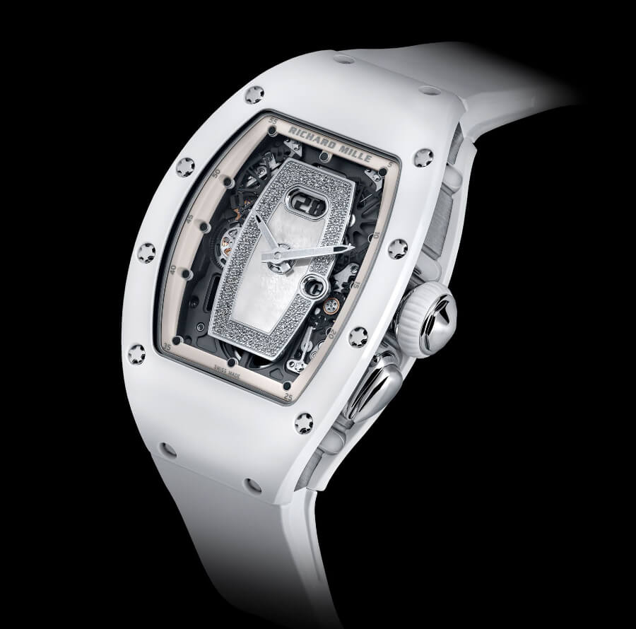 Ladies Watches Richard Mille RM 037 White Ceramic Automatic
