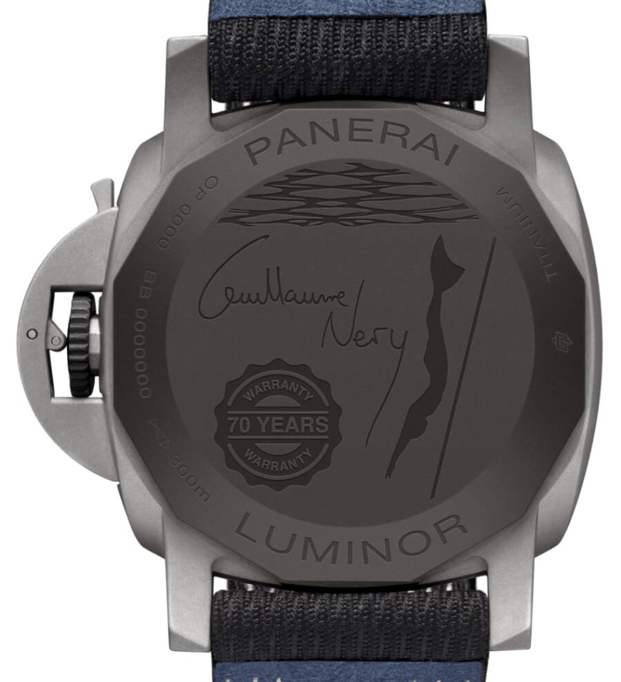 Panerai Luminor Marina 44MM Guillaume Néry Edition PAM01122  Case Back
