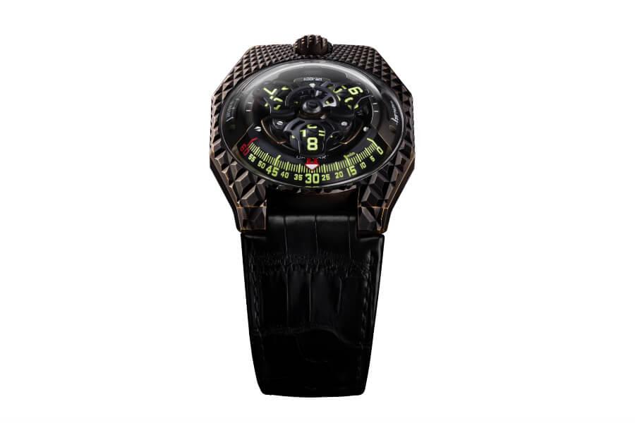 Review The Urwerk UR-100V T-Rex Watch