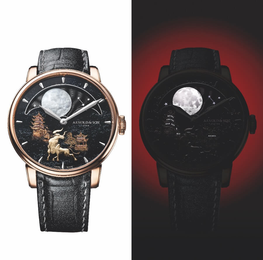 """Arnold & Son Perpetual Moon """"Year of the Ox"""" Watch"""