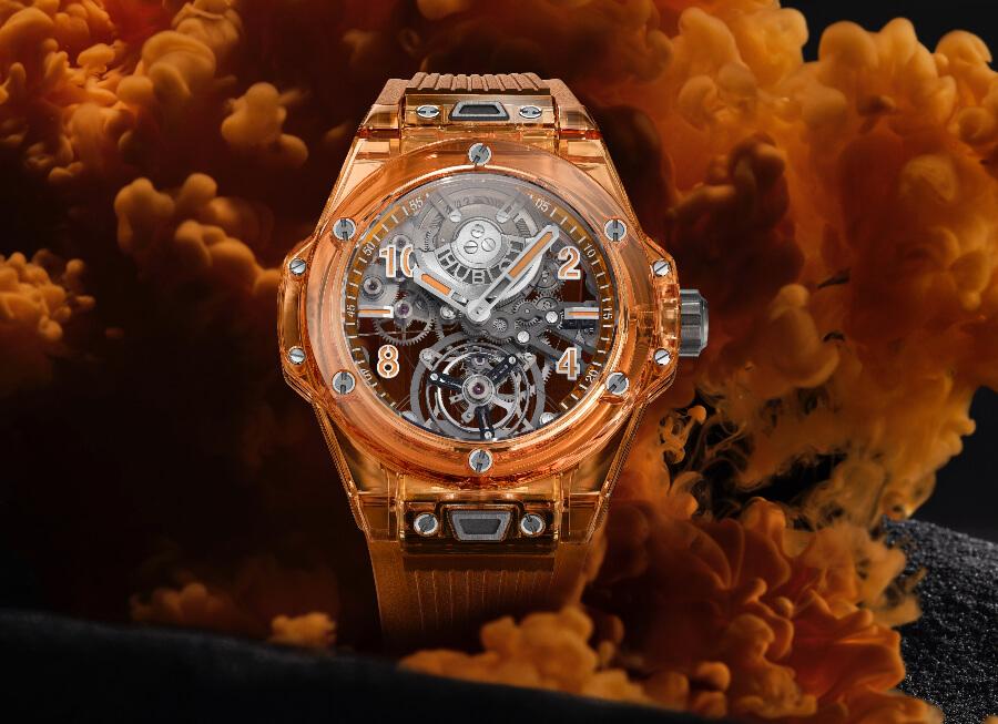 Review Hublot Big Bang Tourbillon Automatic Orange Sapphire