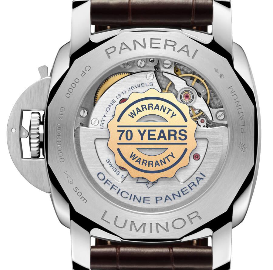 Panerai Platinumtec Luminor Marina PAM01116 Case Back