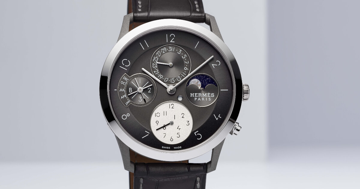 Hermes Slim d'Hermès Perpetual Calendar In Titanium (Price, Pictures and Specifications)