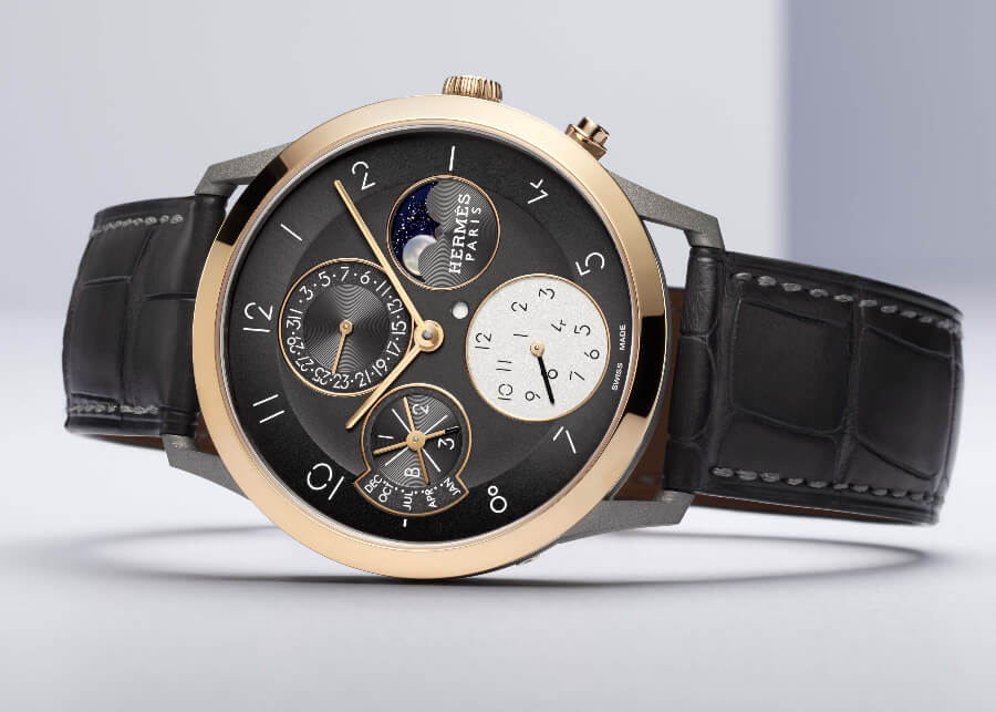 Hermes Slim d'Hermès Perpetual Calendar In Titanium Watch Review