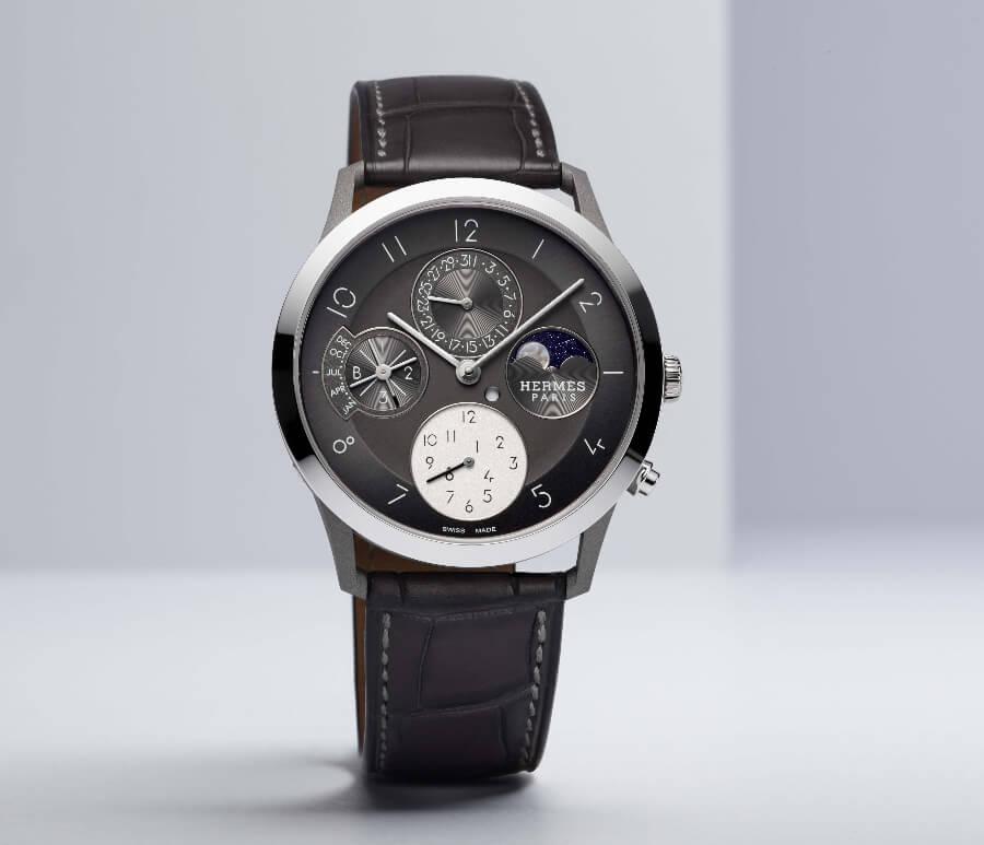 Hermes Slim d'Hermès Perpetual Calendar In Titanium Watch