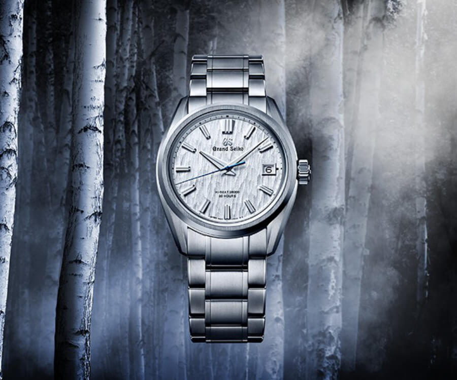 "Grand Seiko Heritage Hi-Beat ""White Birch"" SLGH005 Watch Review"