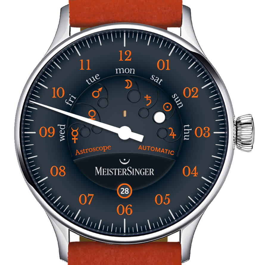 Men Watches MeisterSinger Astroscope Edition 20th Anniversary