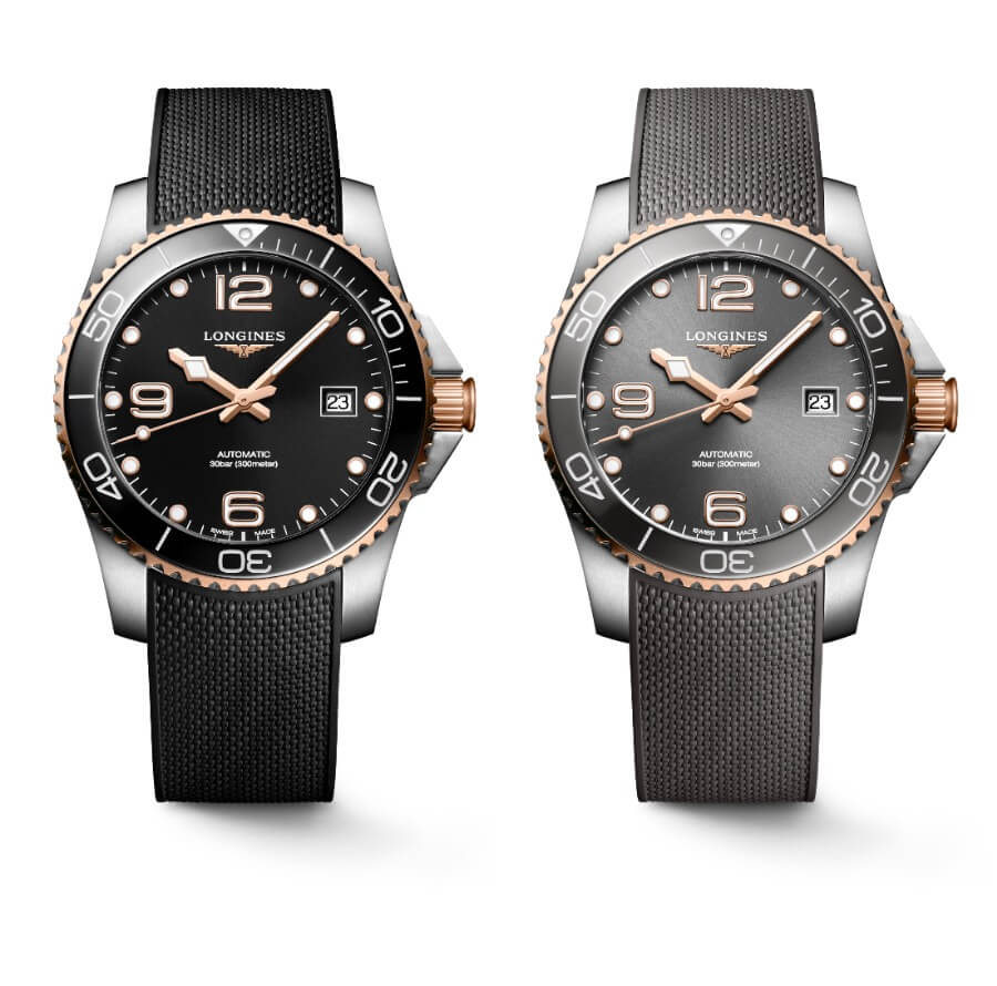 The New Longines HydroConquest 41mm Two-Tone Collection