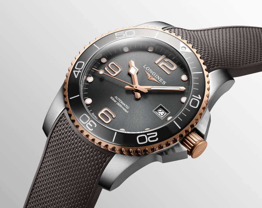 Men Watches Longines HydroConquest 41mm Two-Tone Collection
