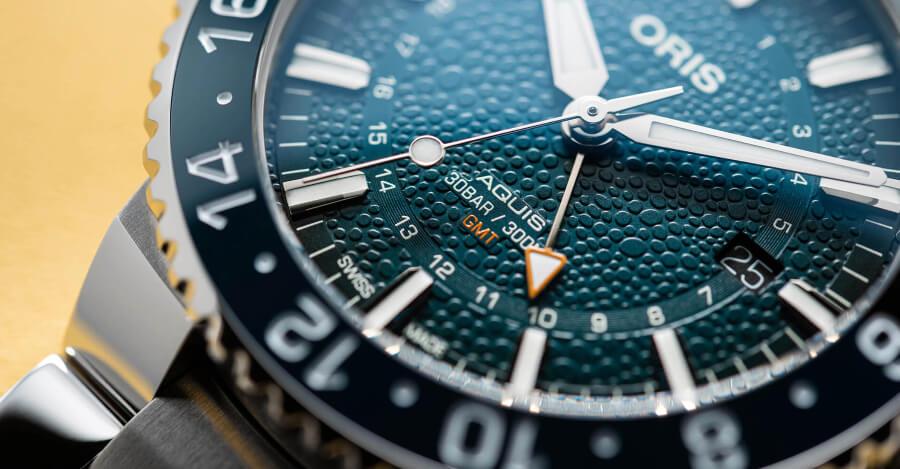 Oris Aquis GMT Whale Shark Limited Edition dial