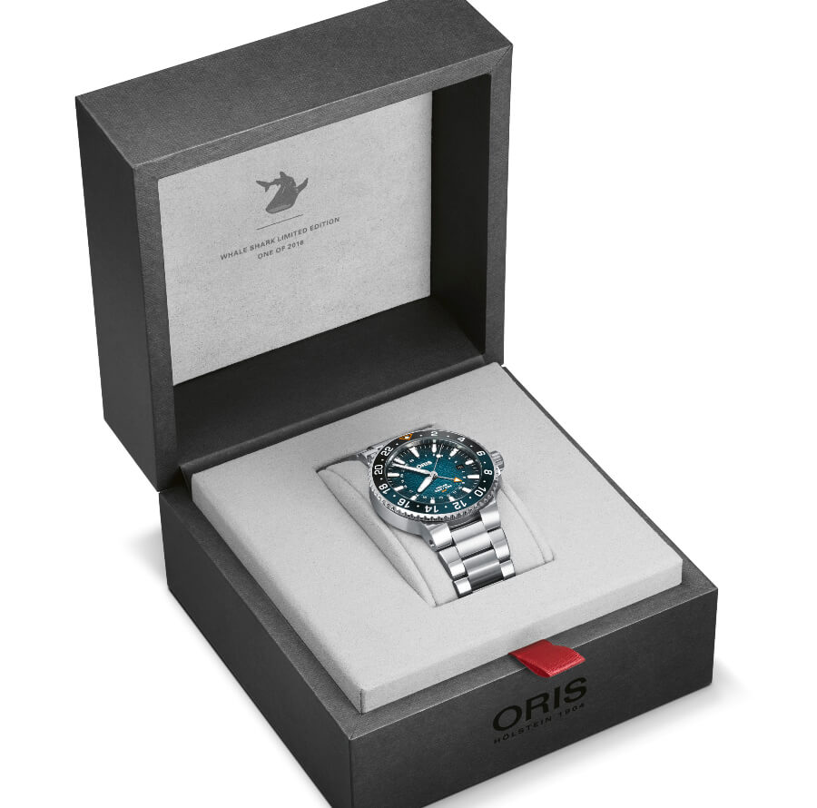 Oris Aquis GMT Whale Shark Limited Edition Full Box For Sale