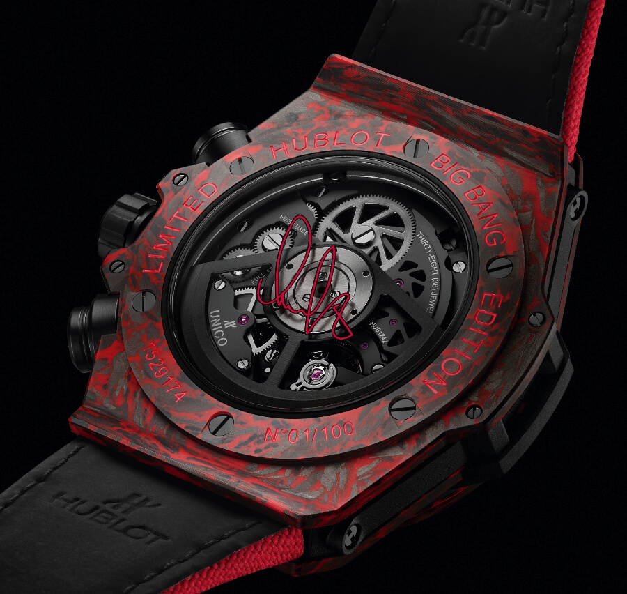 Hublot Big Bang Unico Red Carbon Alex Ovechkin In House Movement