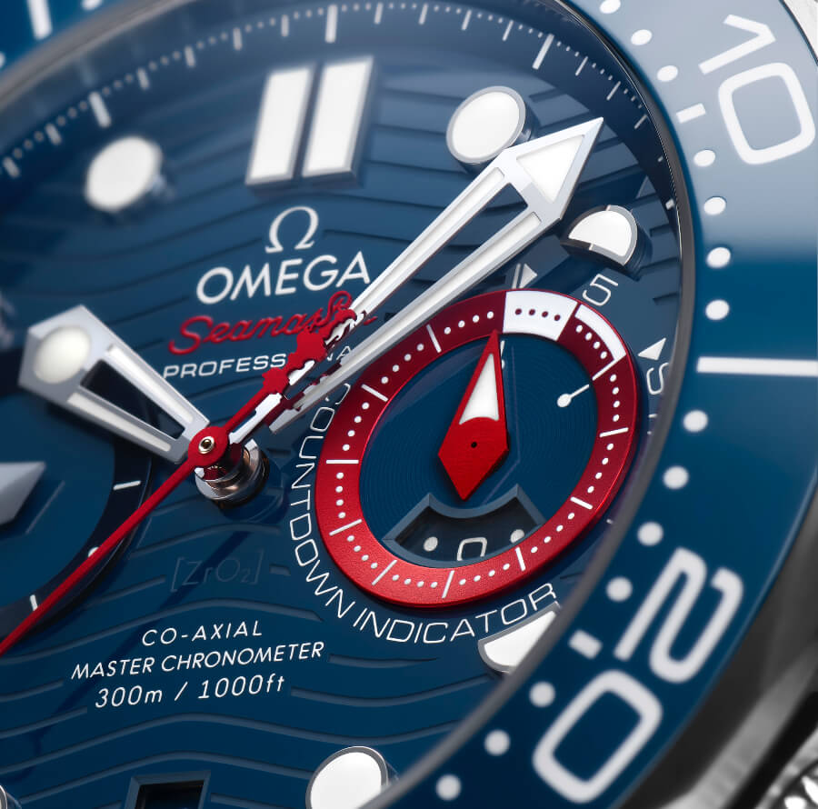 Omega Seamaster Diver 300M America's Cup Chronograph Dial