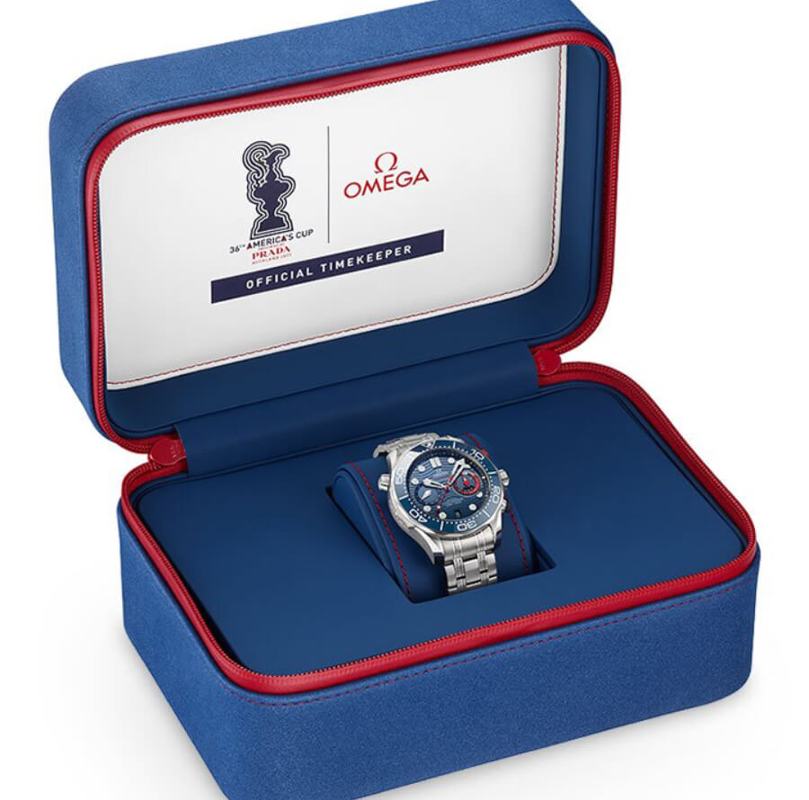 Omega Seamaster Diver 300M America's Cup Chronograph Full Box For Sale