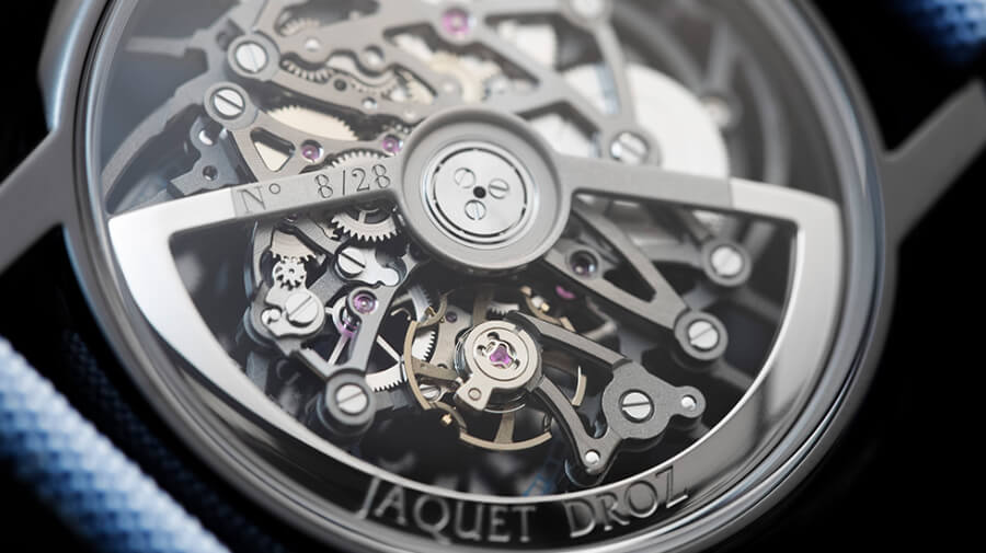 Jaquet Droz Grande Seconde Skelet-One Ceramic In House movement
