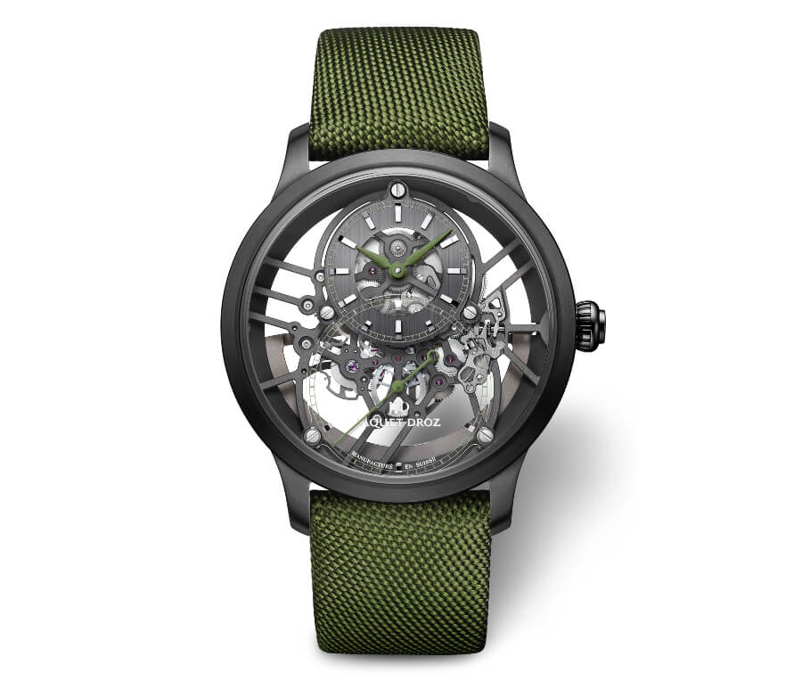Men Watches Jaquet Droz Grande Seconde Skelet-One Ceramic Green