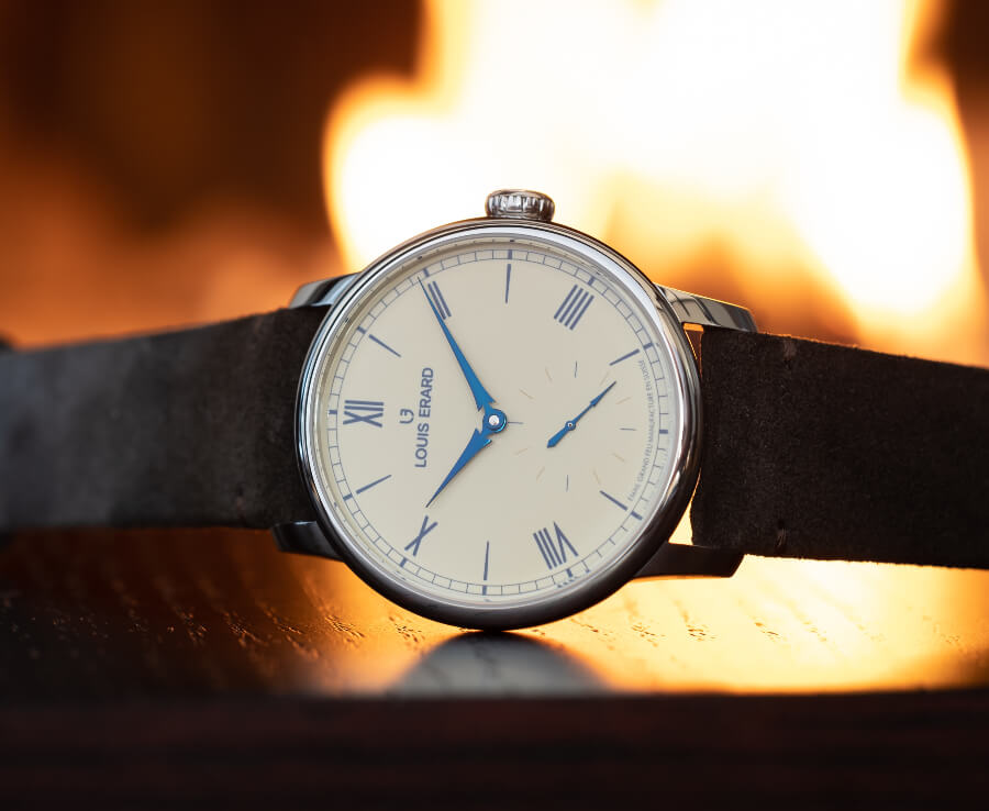 Watch with enamel Dial
