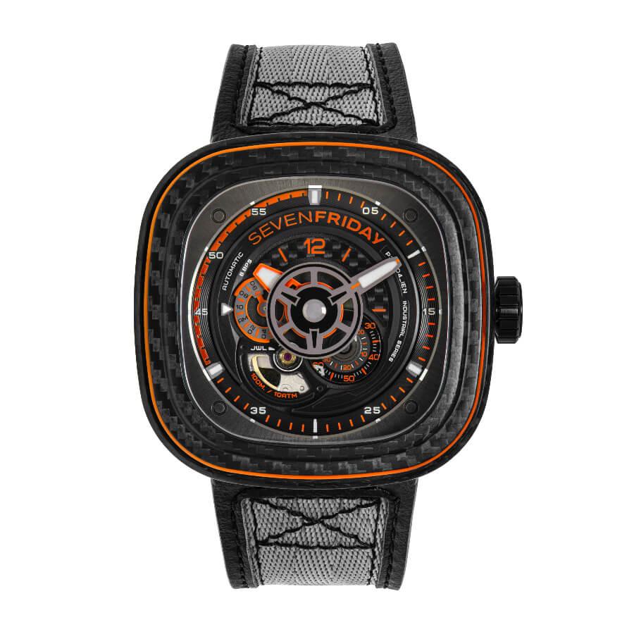 The New Sevenfriday P3C/09 Orange Carbon Watch