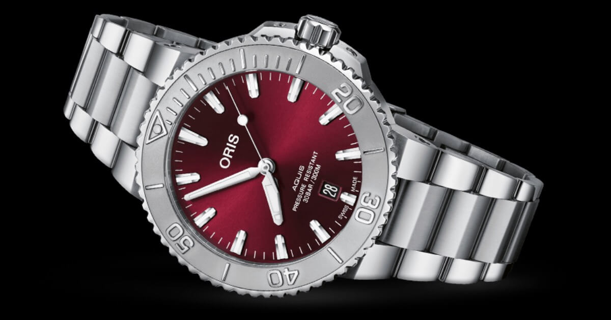 Oris Aquis Date 41.5 mm Cherry Red (Price, Pictures and Specifications)