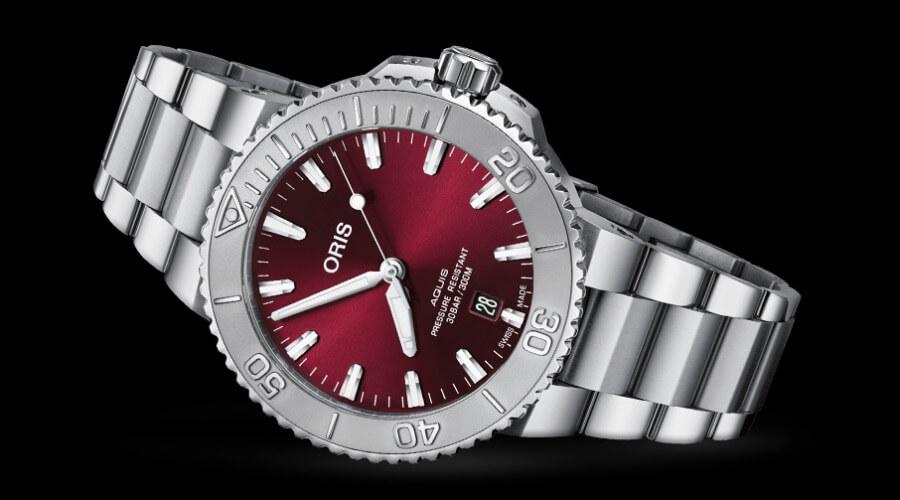 Oris Aquis Date Cherry Red 41.5 mm Ref. 01 733 7766 4158 8 22 05 PEB Review
