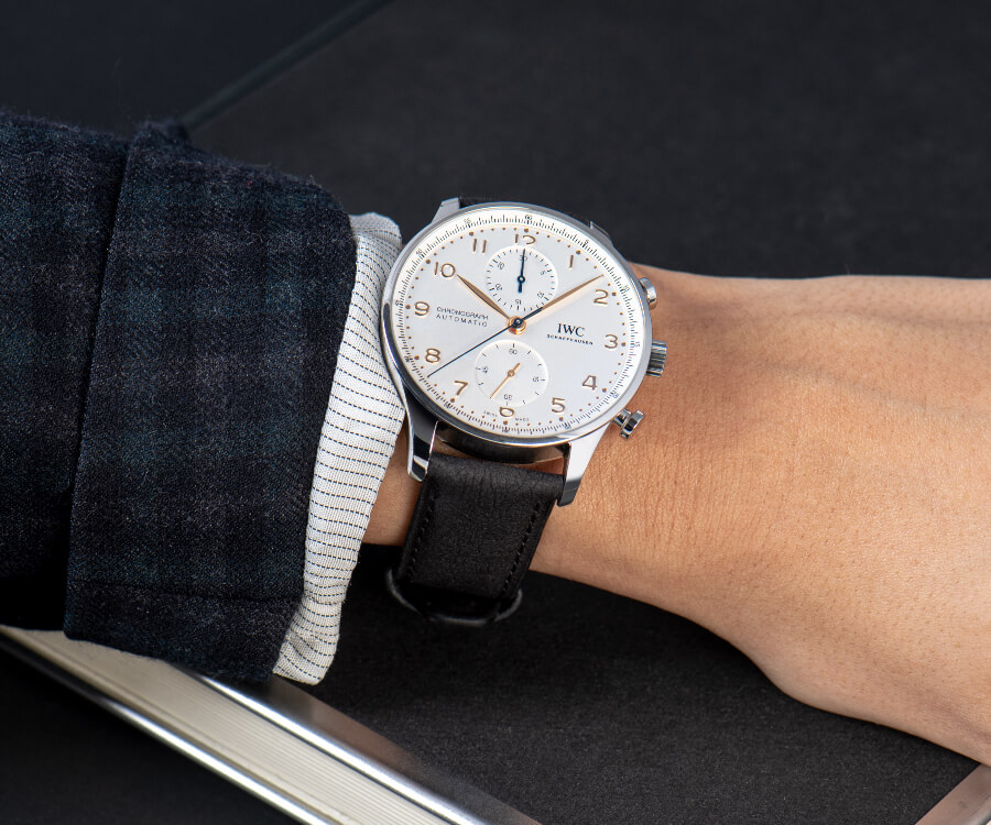 IWC Portugieser Chronograph on TimberTex strap Review