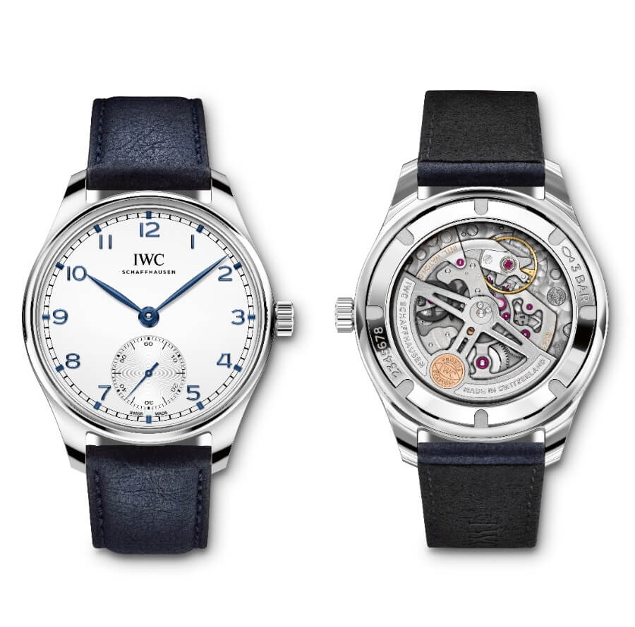 IWC Portugieser Automatic 40 Ref. IW358304 on Blue TimberTex strap Review