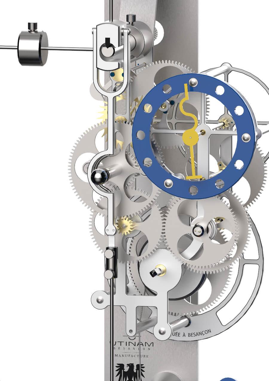 """Lebru X Silberstein """"Kontwaz Bauhaus 2"""" Clock movement"""