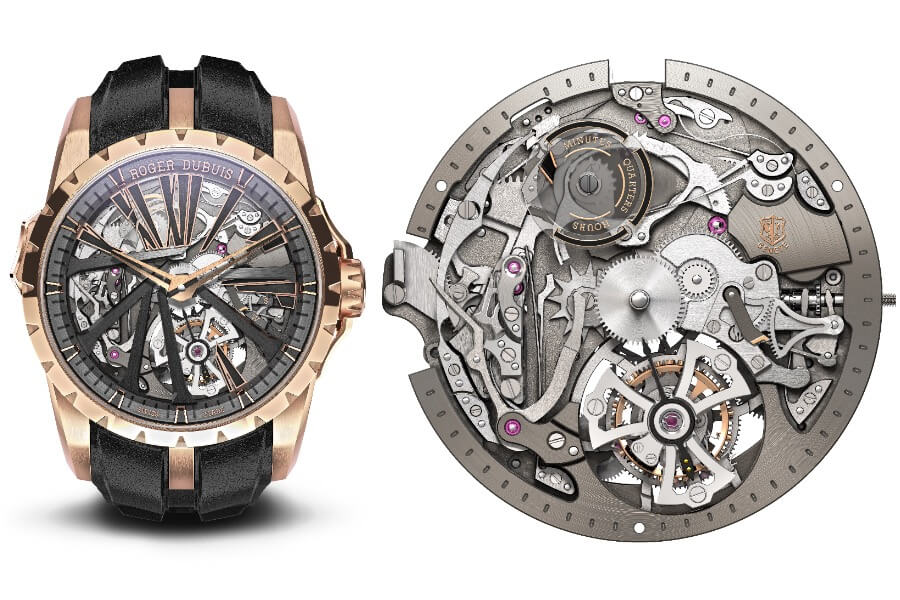 Roger Dubuis Excalibur Diabolus In Machina RDDBEX0840 In pink gold