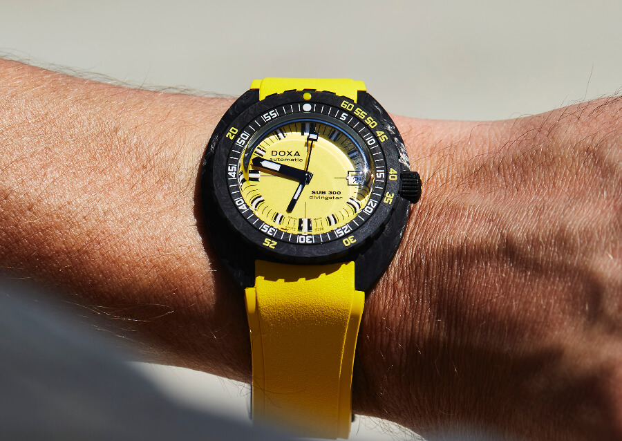 Doxa SUB 300 Carbon COSC Yellow Watch