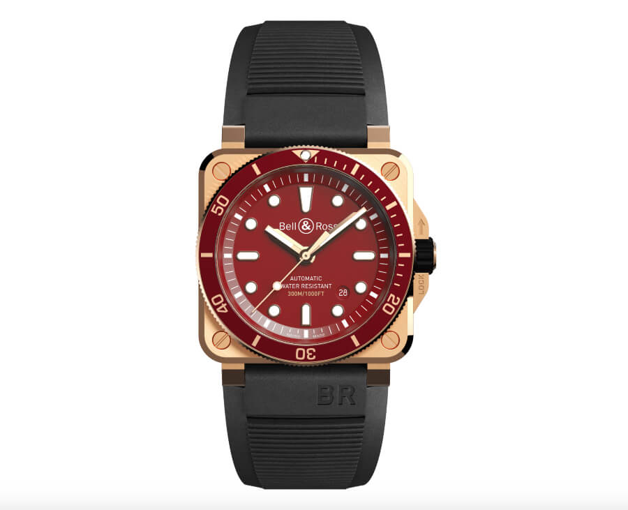 Men Watches Bell & Ross BR 03-92 Diver Red Bronze