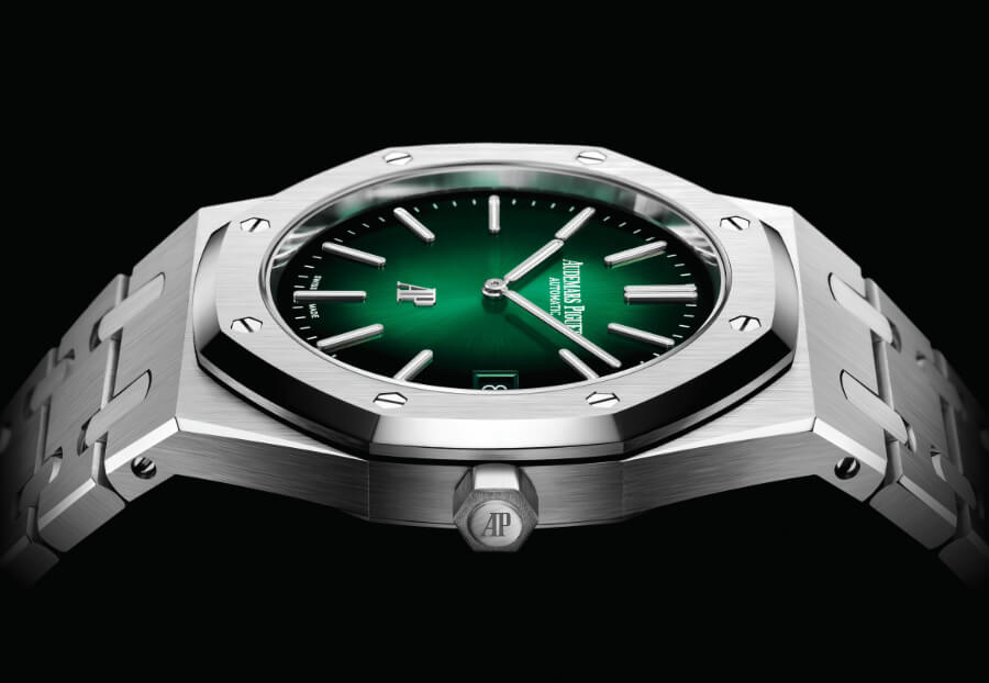 "Audemars Piguet Royal Oak ""Jumbo"" Extra-Thin Green Dial Watch review"