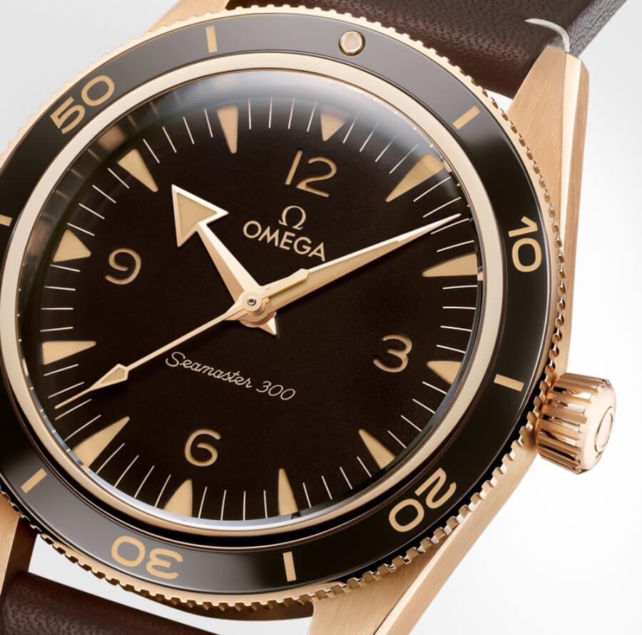 Omega Seamaster 300 Bronze Gold Bezel