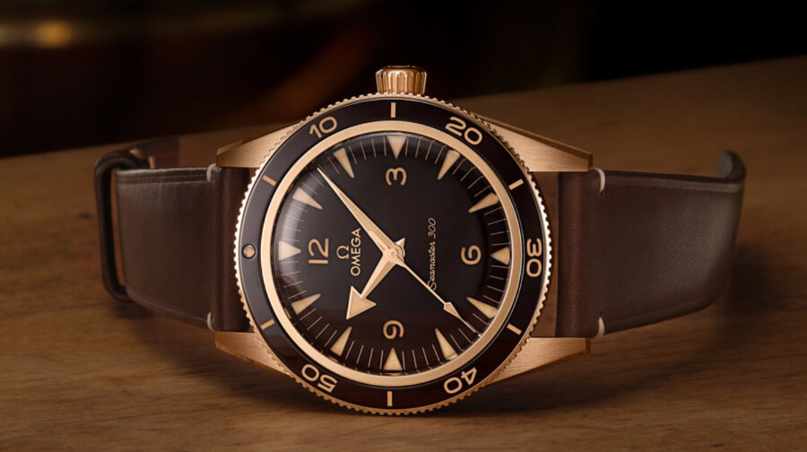 Review Omega Seamaster 300 Bronze Gold Watch
