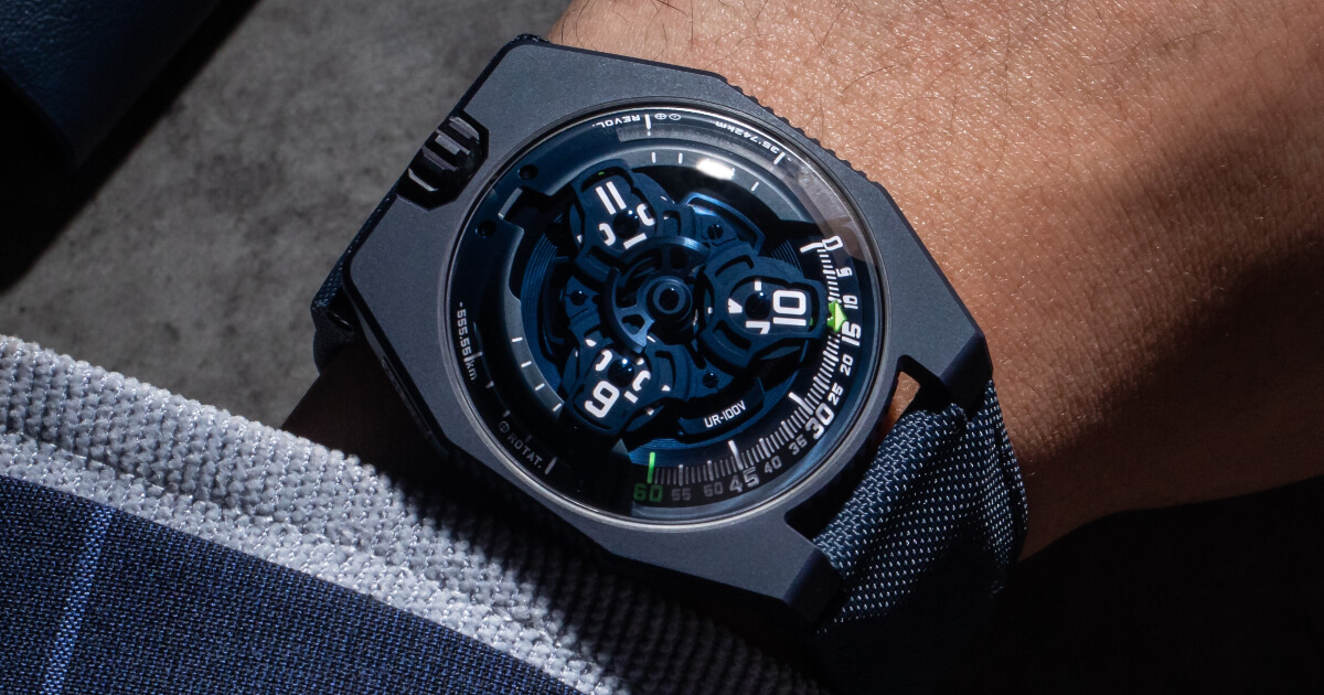 """Urwerk UR-100V """"Blue Planet"""" (Price, Pictures and Specifications)"""