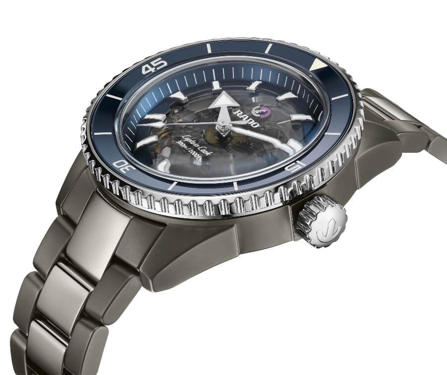 Blue Bezel watch