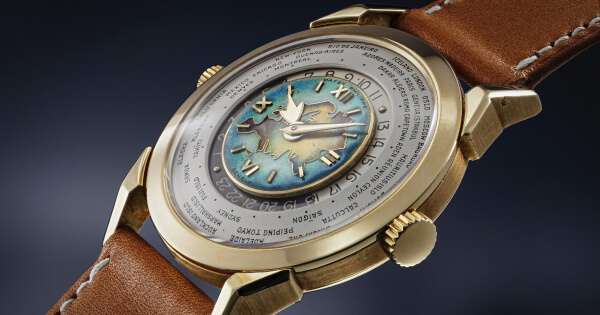 A New World Record For A Patek Philippe Two-Crown Worldtime Wristwatch With Cloisonné Enamel Dial