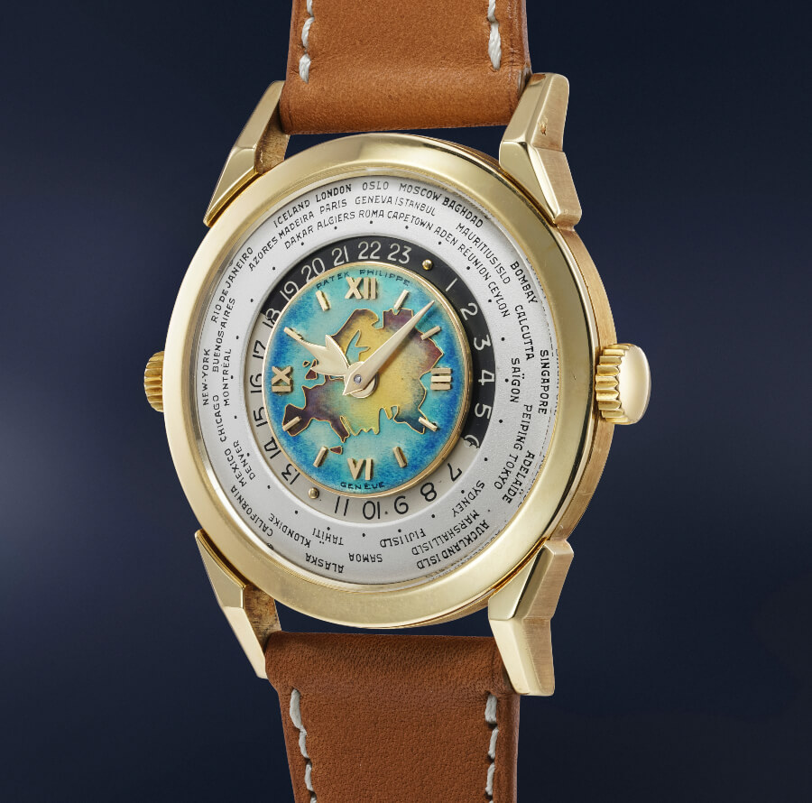 Patek Philippe Reference 2523 in yellow gold with Eurasia Landmass