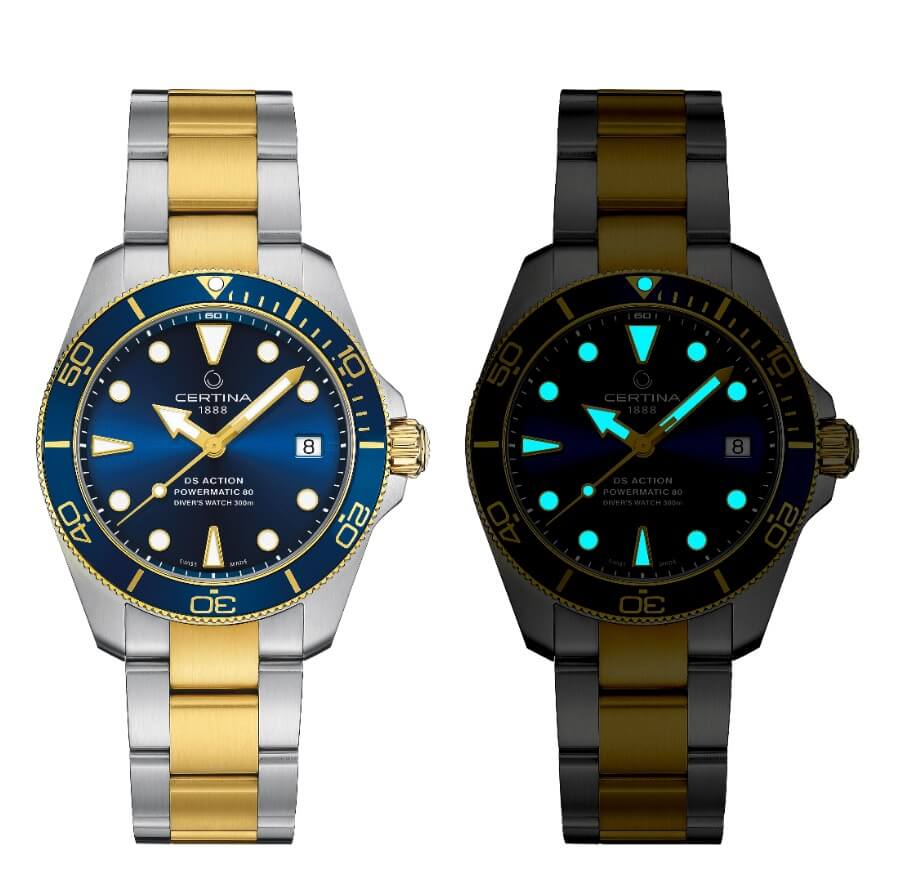 Certina DS Action Diver Sea Turtle Conservancy Super Luminova