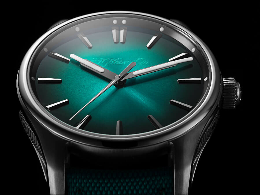 H. Moser & Cie. Pioneer Centre Seconds Mega Cool Green Dial