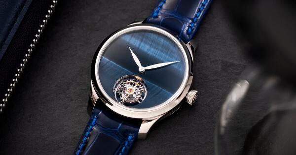H. Moser & Cie. Endeavour Tourbillon Concept Tiger's Eye Watch