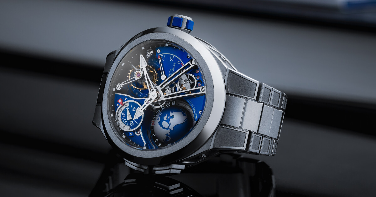 The New Greubel Forsey GMT Sport In Titanium, Blue Movement Limited Edition Watch